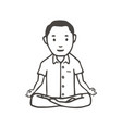 hand drawn man simple style yoga pose or vector image vector image