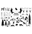 hand drawn vintage antlers feathers arrows vector image