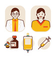 health care and medical staff vector image vector image
