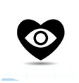 heart black icon love symbol eye floats vector image
