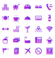 hotel gradient icons on white background vector image