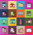 houses icons set flat style vector image