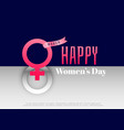 international womens day concept design background vector image