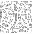 joints and bones seamless pattern vector image vector image