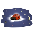 Ladybug sleeping on a cloud vector image