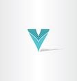 logo letter v symbol element design vector image vector image
