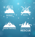 logotype ski mounrain and snow patrol with vector image