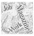 Magazine publishing Career Word Cloud Concept vector image vector image