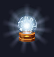 magic crystal ball fortune mistery shining vector image