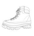 mens boot concept rendering 3d vector image