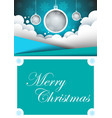 merry christmas happy new year a4 template vector image