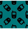Mobile phone web icon flat design Seamless pattern vector image