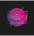 modern style abstract banner with bright neon vector image vector image