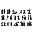 muslim and christian people working together vector image