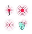 pain circle symbol icon medical painful vector image vector image