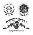 paintball game sport club logo templates gamer vector image vector image