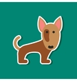 paper sticker on stylish background pet dog vector image vector image