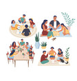 people playing board games vector image vector image