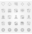 Poker line icons set vector image vector image