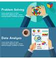 problem solving and data analysis color cube vector image vector image