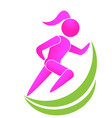 running girl healt and wellness icon logo vector image