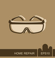 safety goggles icon vector image