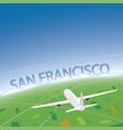 san francisco flight destination vector image vector image