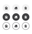 set 3 simple design home icons rounded vector image