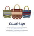 Set of Casual Handbags vector image