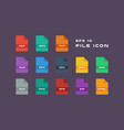 set of document labels and file formats icons pdf vector image