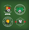 Set of soccer badge labelsemblems vector image