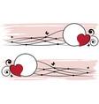 set of valentine frames vector image vector image