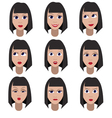 Set of variation of emotions of the same girl vector image vector image