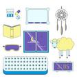 sleep flat icon set vector image vector image