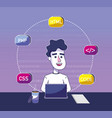 software programmer cartoon vector image vector image