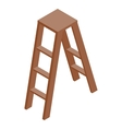 Stepladder icon isometric 3d style vector image