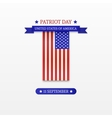 Stylish Patriot Day American Flag stripes vector image vector image