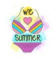 summer 60 vector image vector image