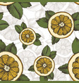 summer pattern with oranges mint and vector image vector image