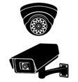 surveillance cameras 08 vector image vector image