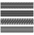 tire tracks silhouettes vector image vector image