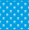 tooth cross section pattern seamless blue vector image vector image