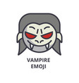 vampire emoji line icon sign vector image
