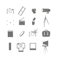 Video and photo icon set vector image