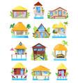 villa tropical resort hotel on ocean beach vector image vector image
