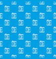 vintage photo camera pattern seamless blue vector image vector image