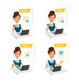 woman buys clothes process of online shopping vector image vector image