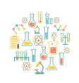 chemistry icons background vector image