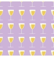 New year pattern with a glass of champagne on vector image
