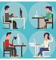 At Office character cartoon vector image